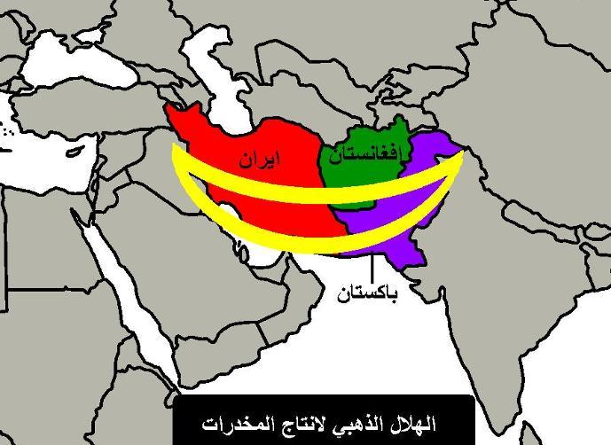 Peta Sumber Tanaman Narkoba dunia