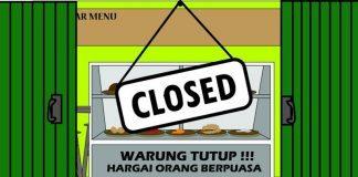 hukum buka warung makan ketika puasa