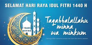 selamat idul fitri 1440 H - taqabballahu minna wa minkum