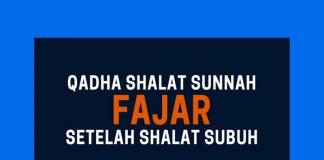 qadha shalat sunnah sebelum subuh